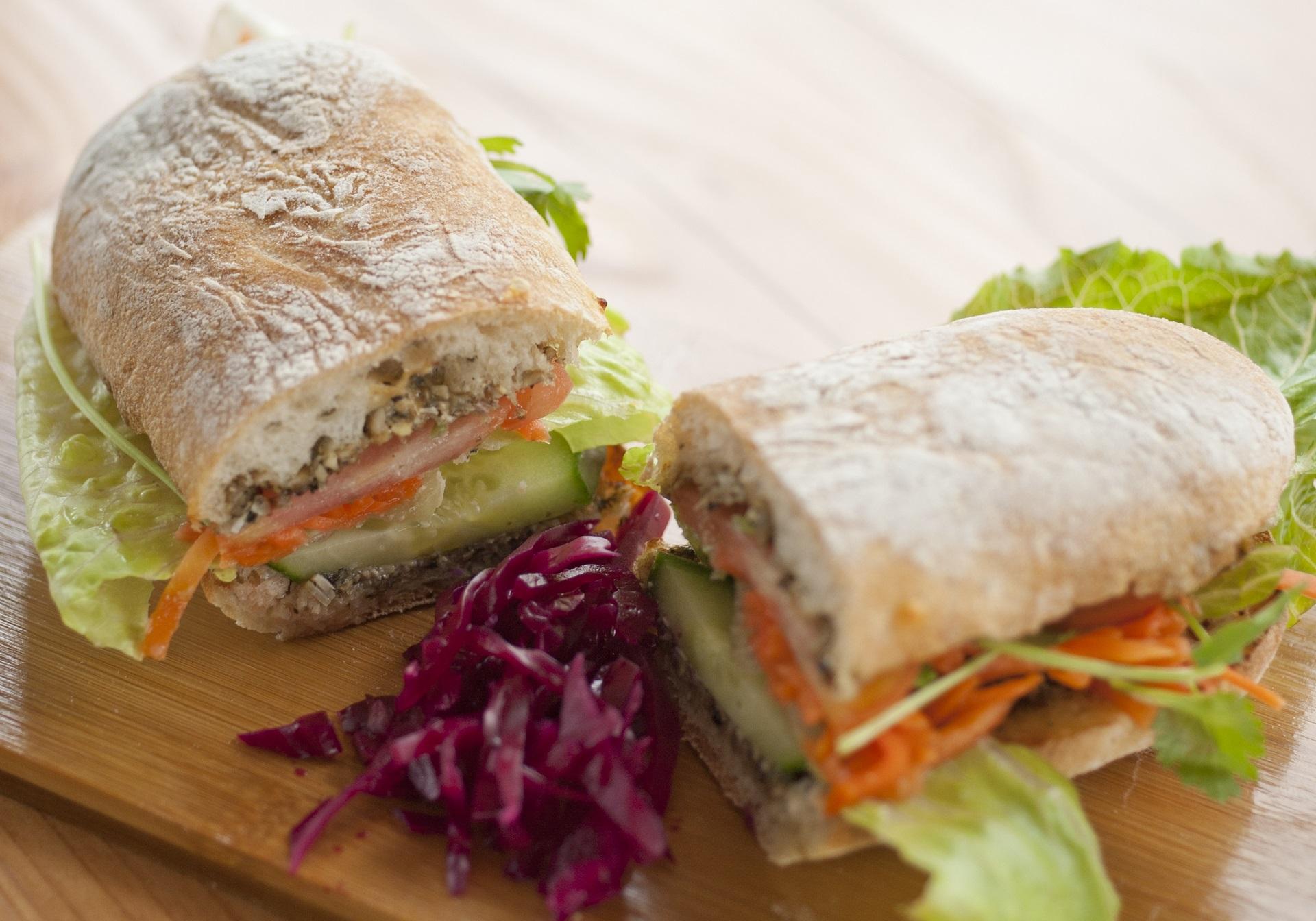 Sunny Pate Sandwich - Vegan Food